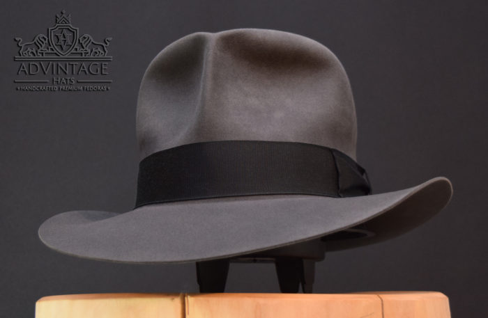 Streets of Cairo Fedora HUt hat in slate grey