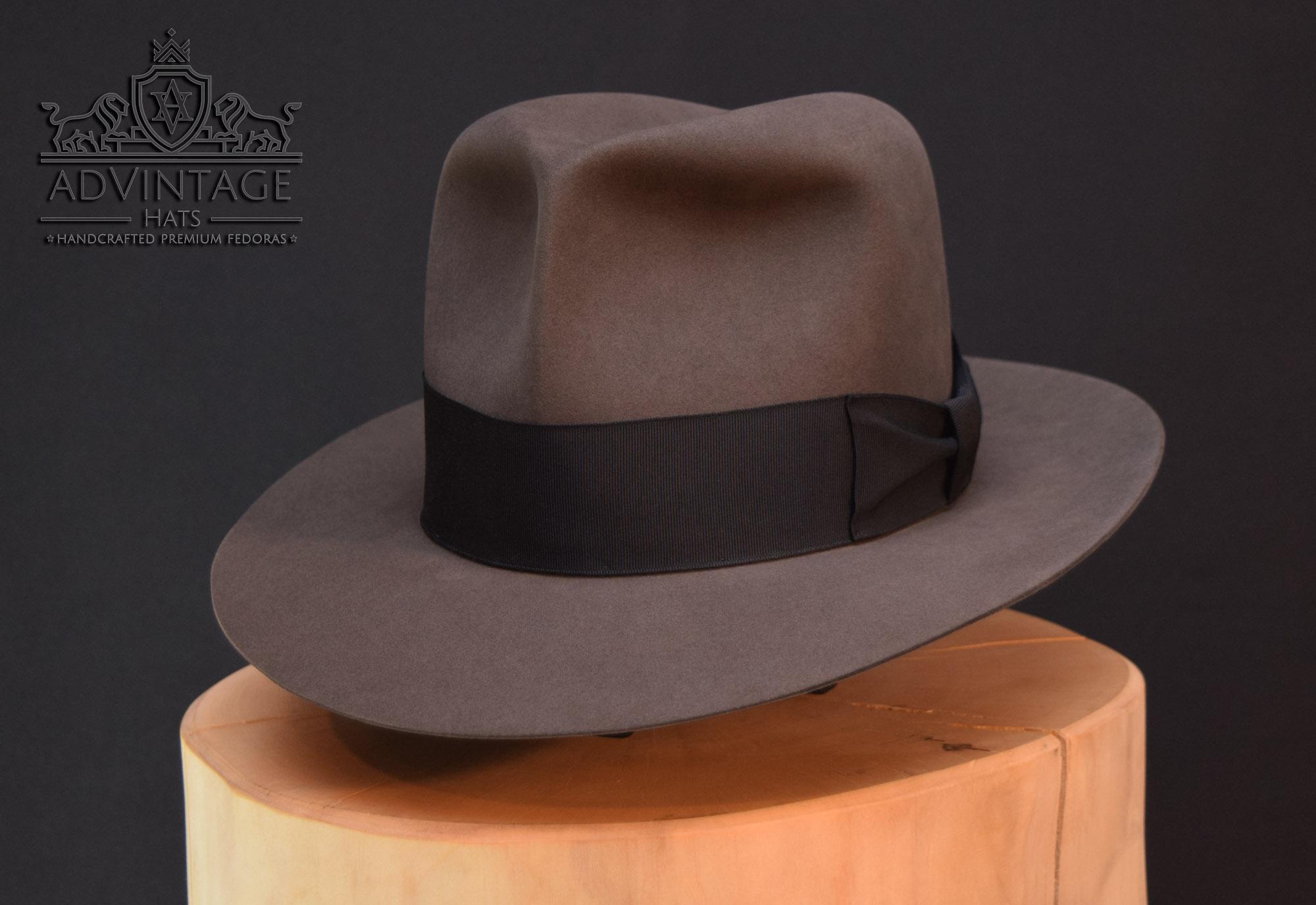 Clipper Fedora Hut travel hat indy indiana jones grey grau 2