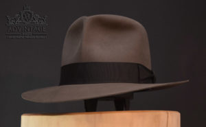 Clipper Fedora Hut travel hat indy indiana jones grey grau