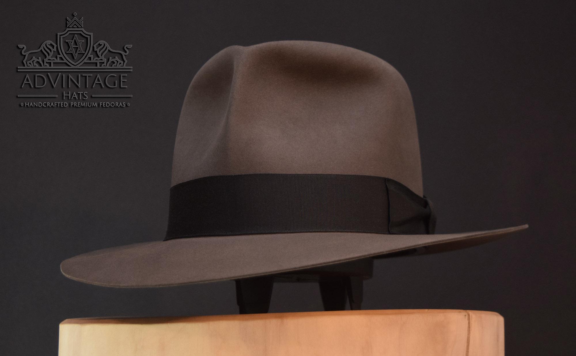 Clipper Fedora Hut travel hat indy indiana jones grey grau