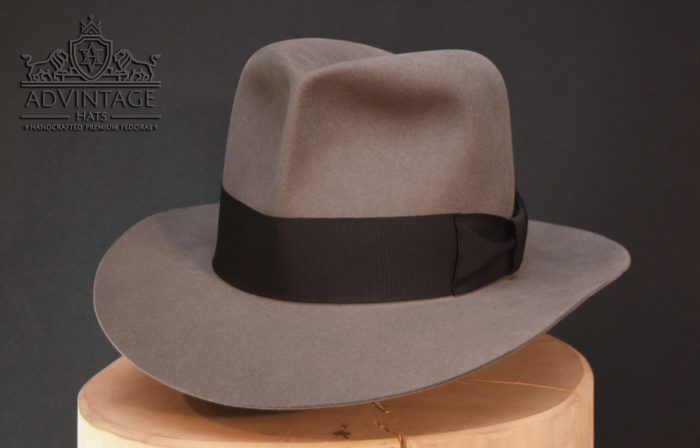 clipper fedora hut hat traver grey mouse indy indiana jones