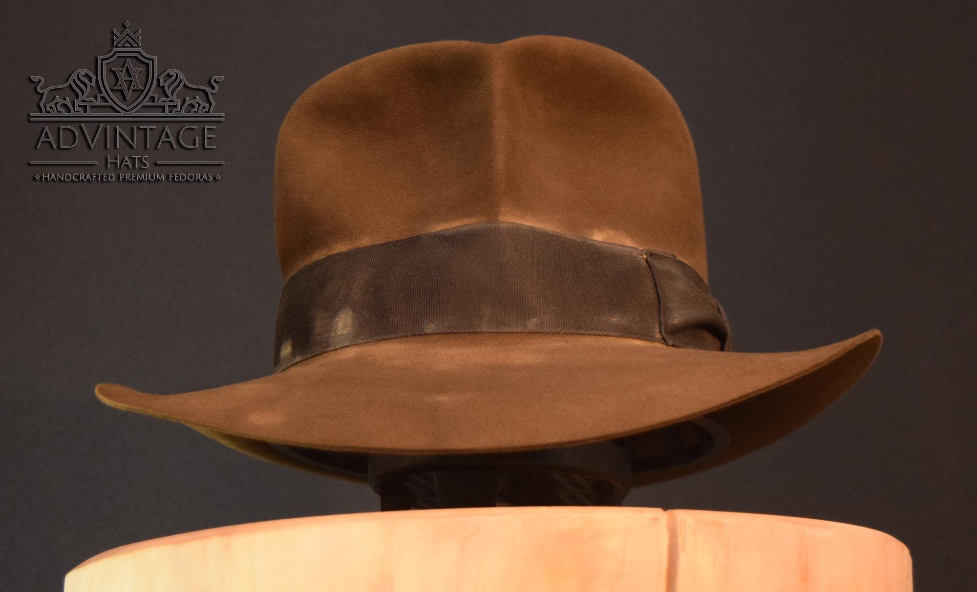 Shorter Streets of Cairo Fedora Hut hat in raiders-sable indy indana jones