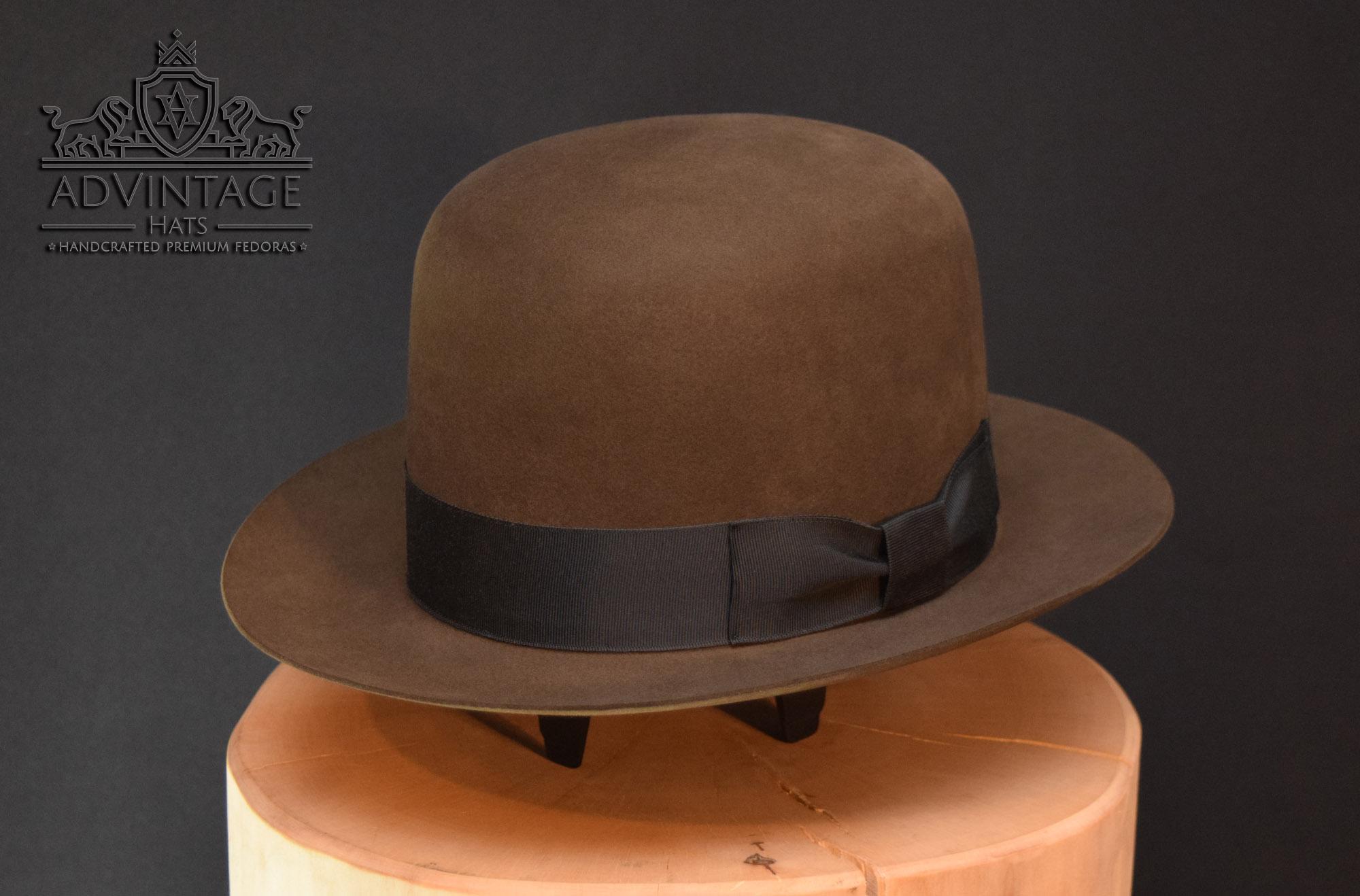 handgemachter fedora hut hat open crowned