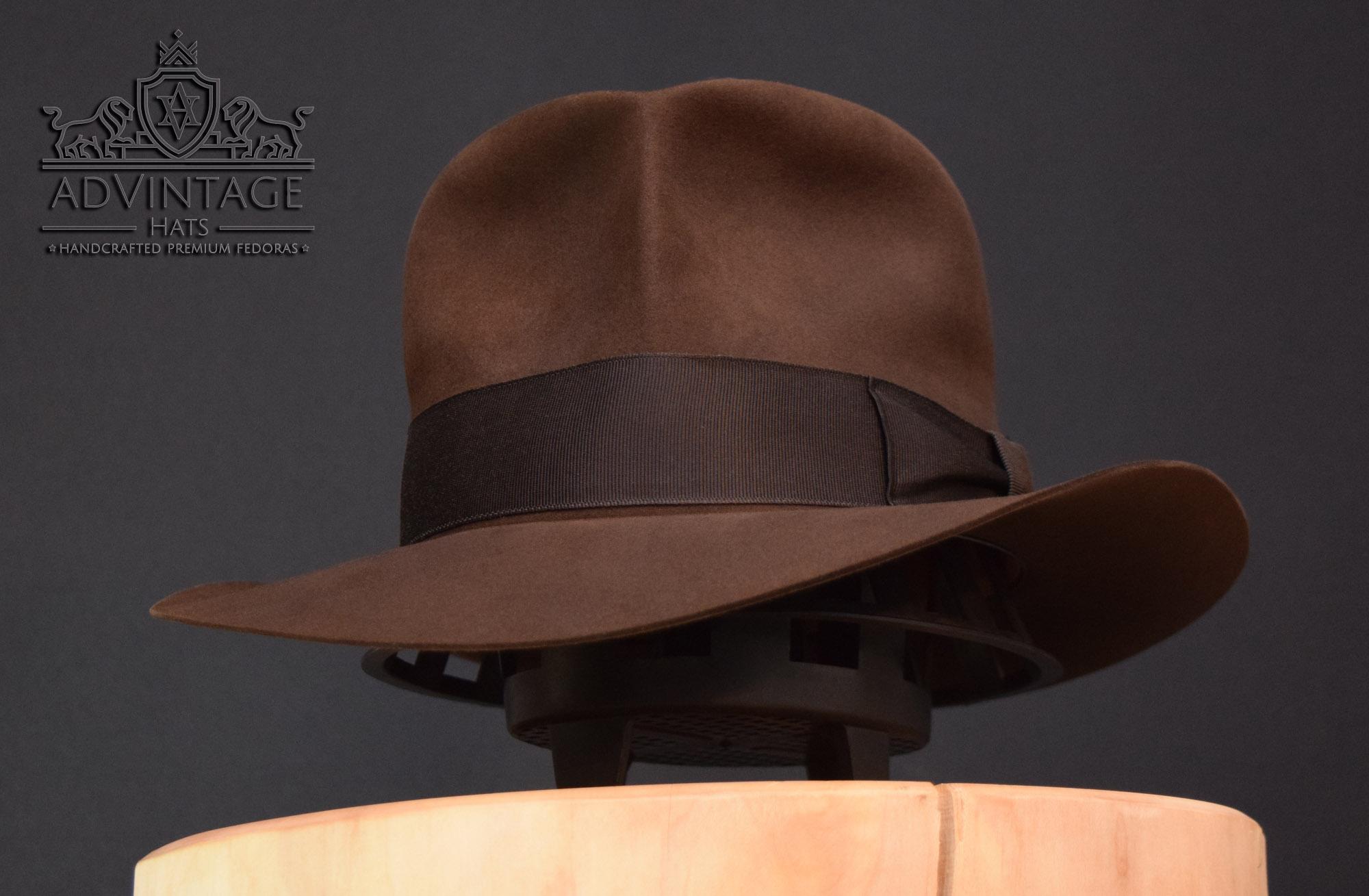 Streets of Cairo Fedora Hut hat in true-sable indy indana jones