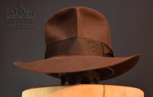 Streets of Cairo Fedora Hut hat in true-sable indy indana jones dezent decent