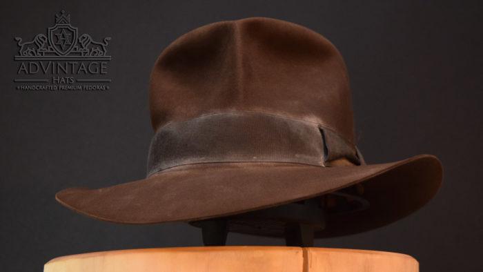 Streets of Cairo Fedora Hut hat in true-sable indy indana jones hero grey dust
