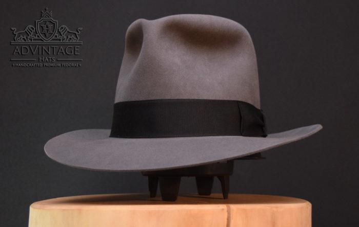 Kingdom Crystal Skull Travel Train Fedora Hut hat Indy Indiana Jones grey grau