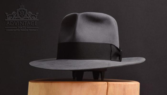 classic fedora hut hat handmade beaver grey grau 2