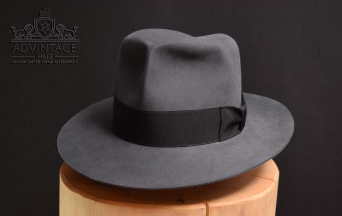 classic fedora hut hat handmade beaver grey grau