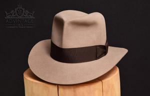 Ungefärbter Raider Fedora Hat (natur)