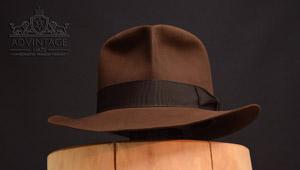 adVintage MasterPiece Raider Fedora hat in True-Sable