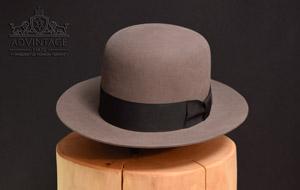 Klassischer Fedora Hut mit offener Krone in Mouse-Grey