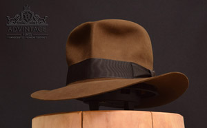 Decent Streets of Cairo Fedora hat in Bright-Sable
