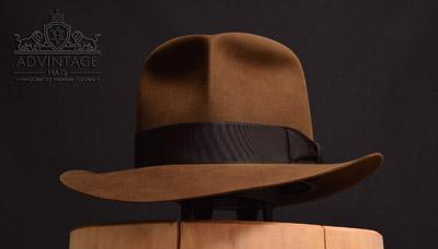 adVintage MasterPiece Fedora hat Raiders Style (Idol Grab Scene) in Bright-Sable