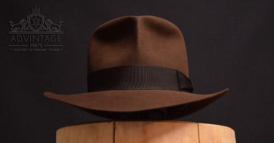 adVintage Masterpiece Fedora hat Raiders-Style (Raven Bar scene) in True-Sable