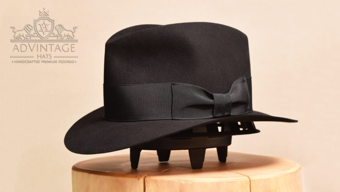 custom bespoke fedora hat beaver 100x hut schwarz black