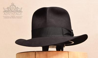 adVintage MasterPiece Fedora hat Raiders style in black