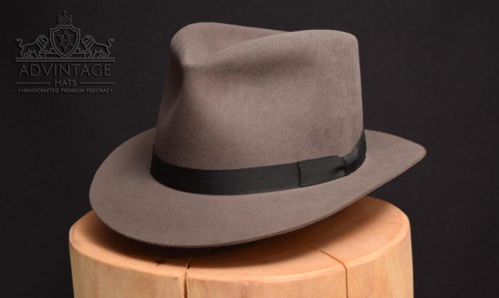 custom bespoke fedora hat beaver 100x hut schwarz grey grau