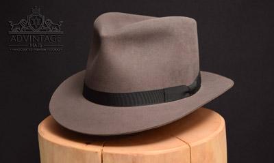 Custom Fedora hat in mouse-grey