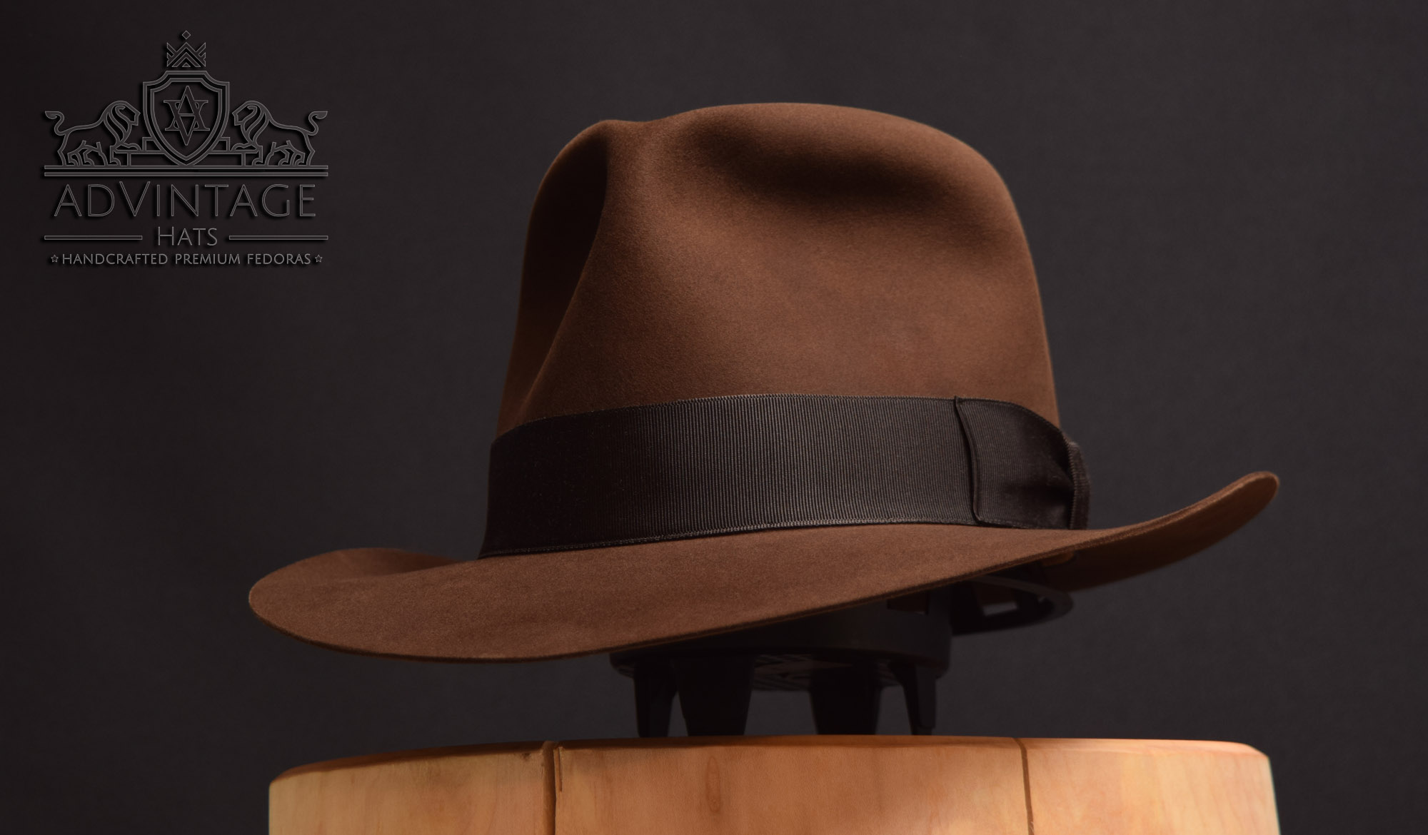 masterpiece advintage crusader fedora hut hat true sable indiana jones indy handmade handgemacht biber beaver felz filz