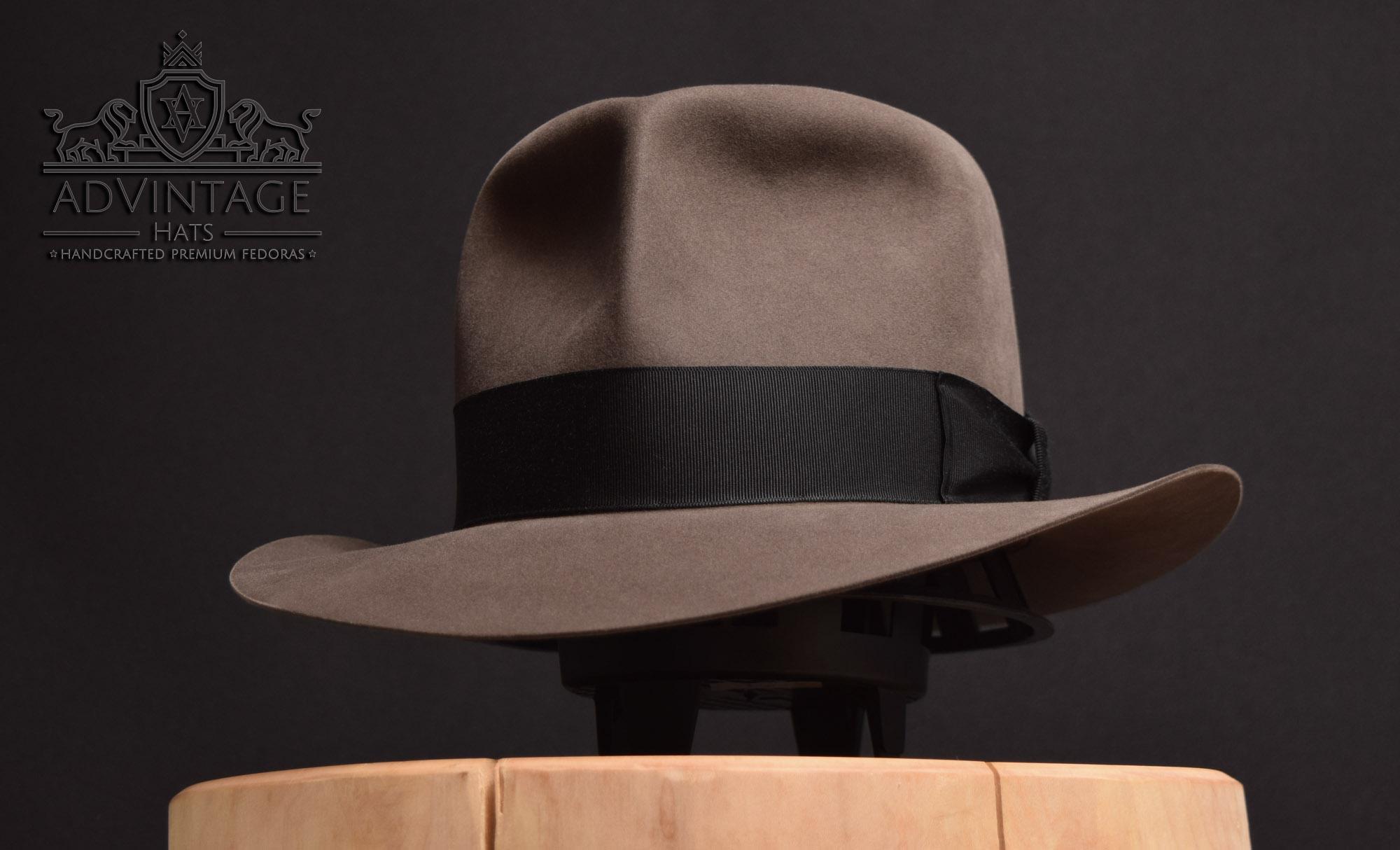 smoke grey clipper raider fedora hut hat travel handmade