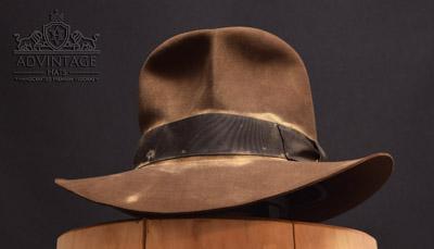 adVintage MasterPiece Streets of Cairo Fedora hat - Hero Version -in Sable
