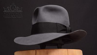Custom Fedora Hut in Steel-Grey
