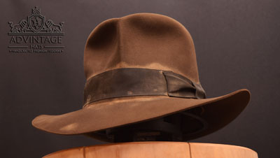 Distressed Hero Streets of Cairo Fedora hat in Sable