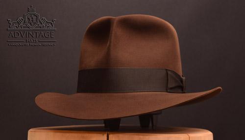 Raider Fedora hat in True-Sable with shorter crown