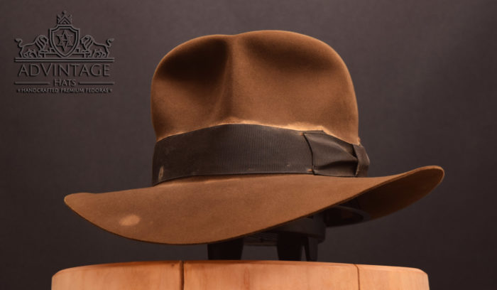 soc streets of cairo fedora hut hat indy indiana jones bright-sable hero weathered