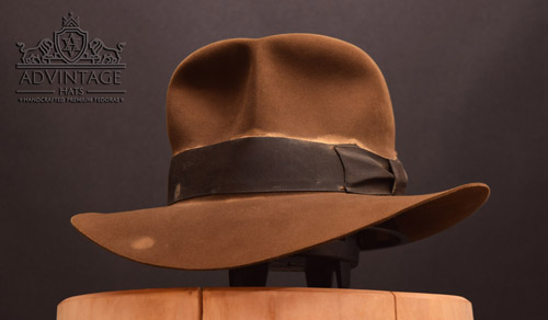 Hero Streets of Cairo Fedora hat in Bright-Sable with shorter crown