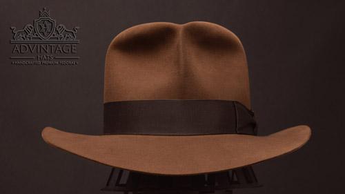 Raider Fedora hat in Sable with Raiders-Turn