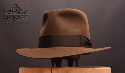 Temple Fedora hat in Sable