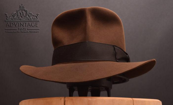 Indiana Jones fedora hat handmade advintages hats 100x 100% beaver biber