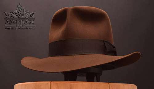 Raider Fedora hat without Turn in True-Sable